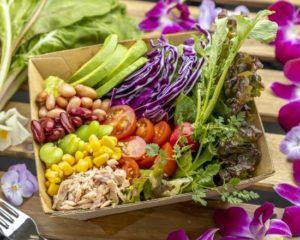 サラダボウル Salad Bowl ヘルシー志向の方や野菜不足の方にサラダボウルをご用意しました。 We created a salad bowl to have a healthy dish that those who need more vegetables in their diet can enjoy.